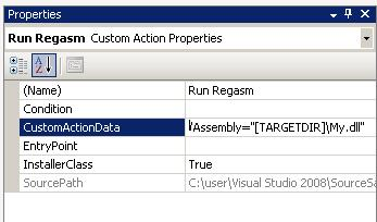 CustomActionData Property